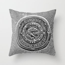 Astoria Storm Water, Monotone Throw Pillow