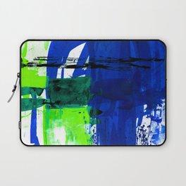 Teal Splendor No.1c by Kathy Morton Stanion Laptop Sleeve
