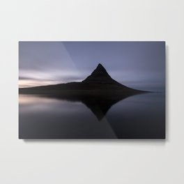 Iceland, Kirkjufell reflection 2 Metal Print