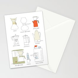 coffee makers Stationery Cards