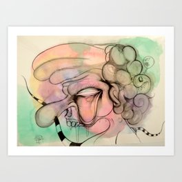 The Cabby Art Print