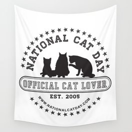 National Cat Day Wall Tapestry
