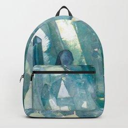 Sparkling Light Blue Crystal Shards Backpack