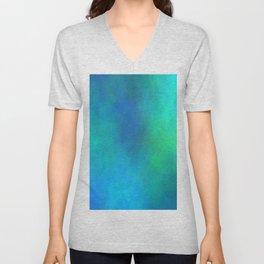 Pattern Abstrait Brume Bleu/Vert Unisex V-Neck