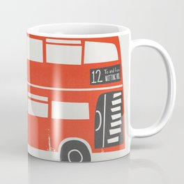 London Double Decker Red Bus Coffee Mug
