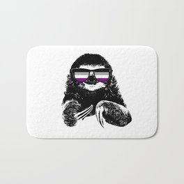 Pride Sloth Asexual Flag Sunglasses Bath Mat