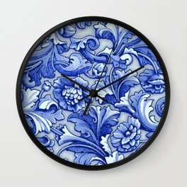 Blue and White Porcelain Wall Clock