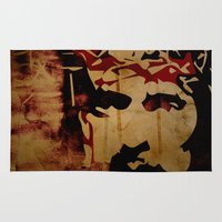 christ Area & Throw Rugs featuring Jesus Christ by Ed Pires