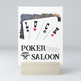 Welcome to the Poker Saloon Mini Art Print