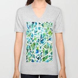 Coastal Mosaic Bright Unisex V-Neck