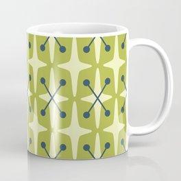 Mid Century Modern Star Pattern 541 Chartreuse Coffee Mug
