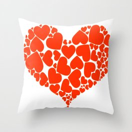 A Heart Full Of Love Red Valentine Hearts Within A Heart Throw Pillow