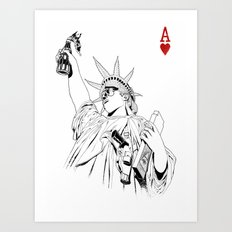 freedom...black & white Art Print