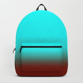 Turquoise Burgundy Ombre Backpack