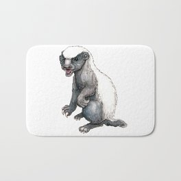 Sassy Honey Badger Bath Mat