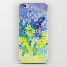 Bee Disappearance, Watercolor Painting iPhone Skin