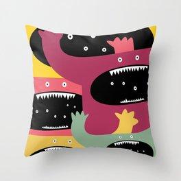 Monster medley. Throw Pillow
