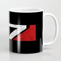 n7 Mugs featuring N7 by adho1982