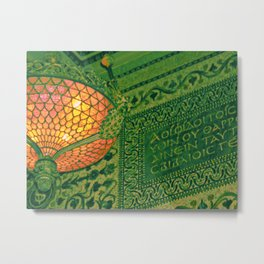 Chicago Cultural Center ~ architecture tiffany lamp detail Metal Print
