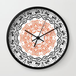 arabic calligraphy letters Wall Clock