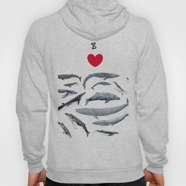 I love whales design Hoody