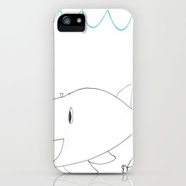 Burping Whale iPhone Case
