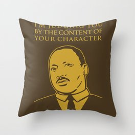 Content of Character Throw Pillow