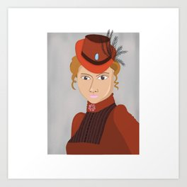 Lady in a Victorian Hat Art Print