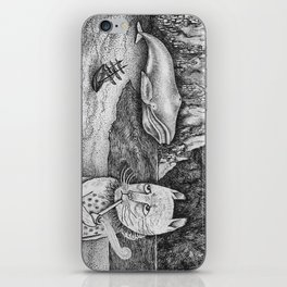 The Whale, The Castle & The Smoking Cat iPhone Skin