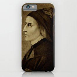 H.F. Cary - The Divine Comedy of Dante Alighieri (1901) - Portrait of Dante iPhone Case