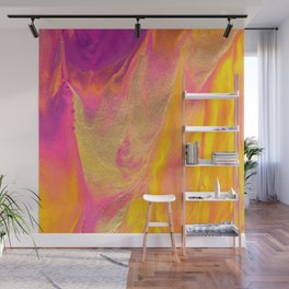 Dripping in Gold Abstract Painting Wall Mural