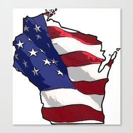 Patriotic Wisconsin Canvas Print