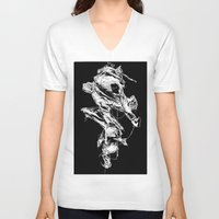 in the flesh V-neck T-shirts featuring flesh character  by Andrew Tremblay (Unknown Planet / ILL) a
