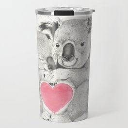 Koalas love hugs Travel Mug