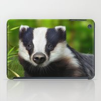 badger iPad Cases featuring Badger by Julie Hoddinott