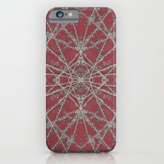 Snowflake Red iPhone 6s Slim Case