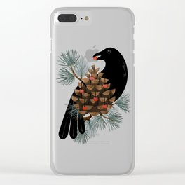 Bird & Berries Clear iPhone Case
