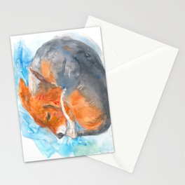 Sleeping Beagle Stationery Cards