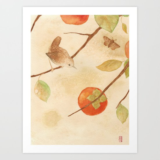Winter Wren Art Print