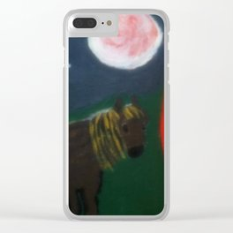 Horse And Gypsy Caravan Clear iPhone Case