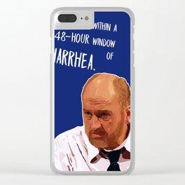 48-hour window  of DIARRHEA Clear iPhone Case