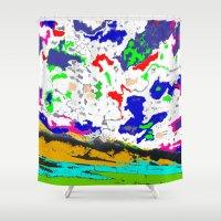 zodiac Shower Curtains featuring Zodiac by lookiz