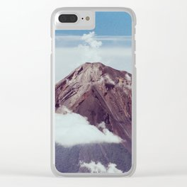 Volcano & Clouds Clear iPhone Case