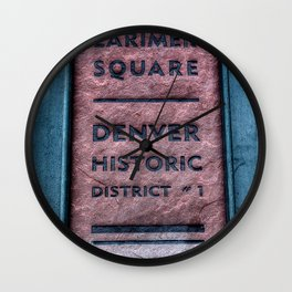 Larimer Wall Clock
