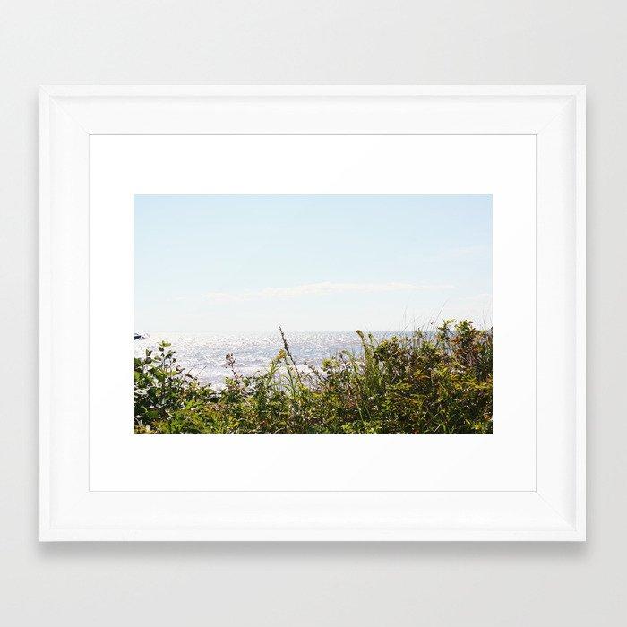 The Ocean Calls (Summer) Framed Art Print