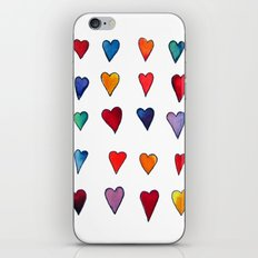 Multiple HEARTS iPhone & iPod Skin
