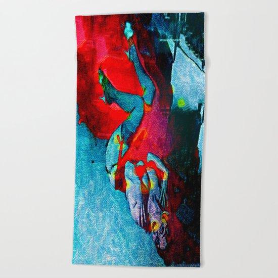 Fiery Desire Beach Towel