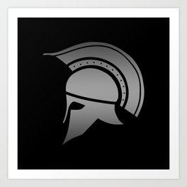 Ancient Greek Spartan Helmet Art Print