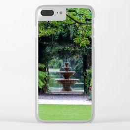 Focal Point In The Garden Clear iPhone Case