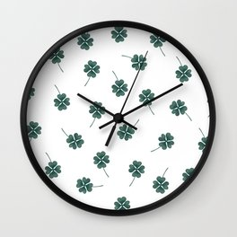 Four Leaf Clover Wall Clock